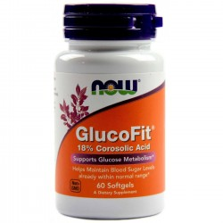 GlucoFit 60 Kapsułek Now Foods