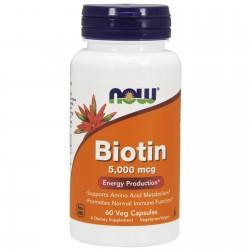 Biotin 60 Kapsułek Now Foods